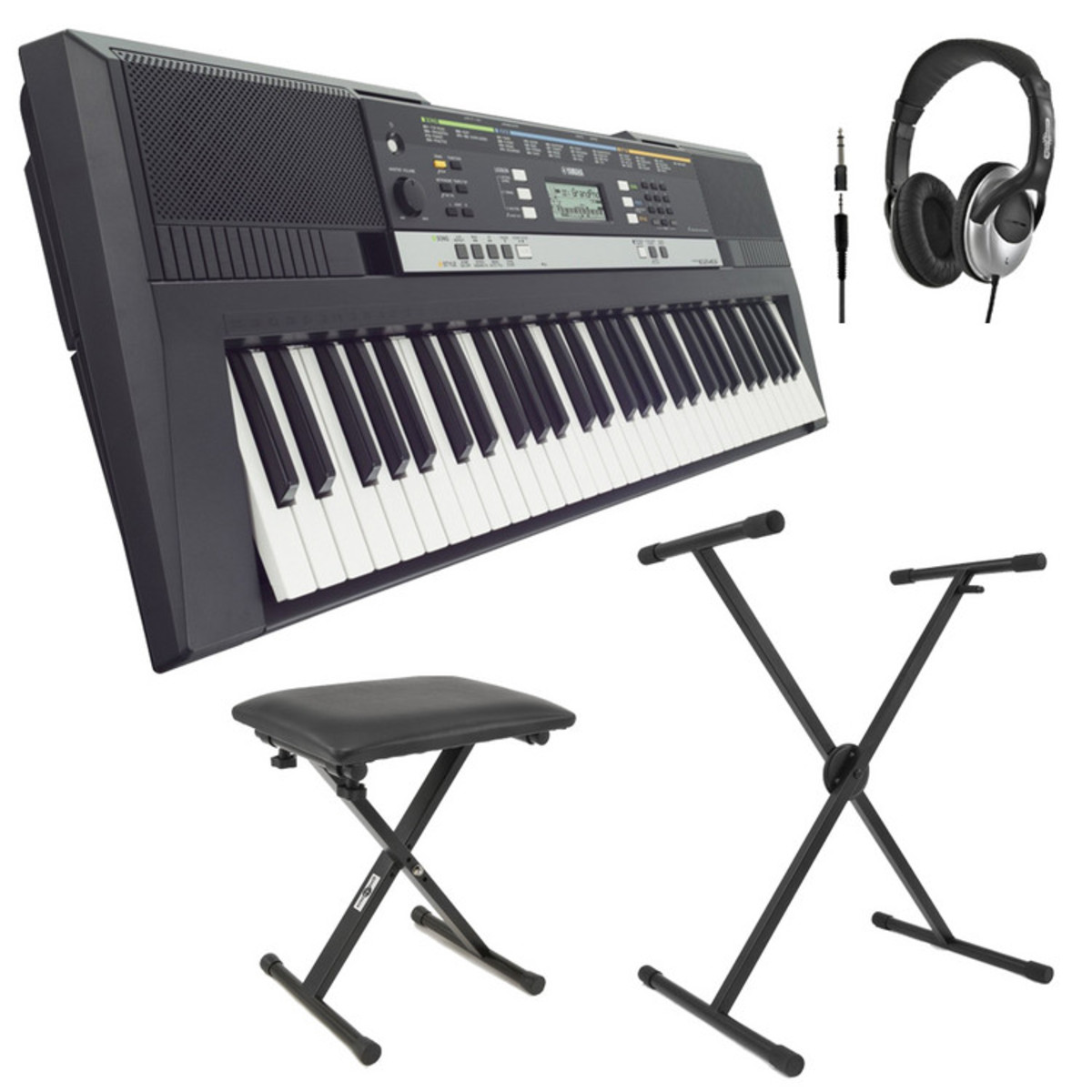 Discyamaha psre243 portable keyboard with stand bench and Keyboard stand and bench