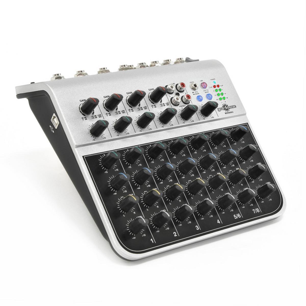 Mix04au 8 Canaux Mini Table De Mixage Avec Usb Par Gear4music Comme Neuf