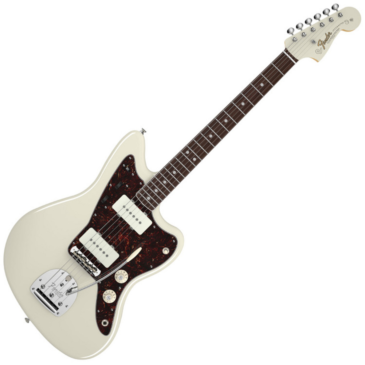 fender american vintage 65 jazzmaster electric guitar olympic white at. Black Bedroom Furniture Sets. Home Design Ideas