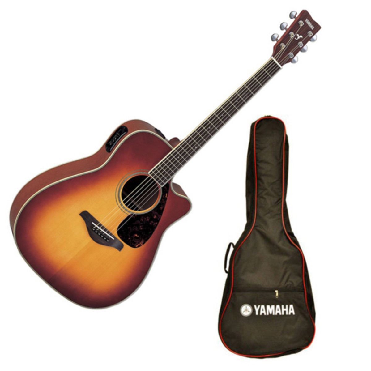 Yamaha fgx720sca guitare electro acoustique sunburst for Housse guitare acoustique