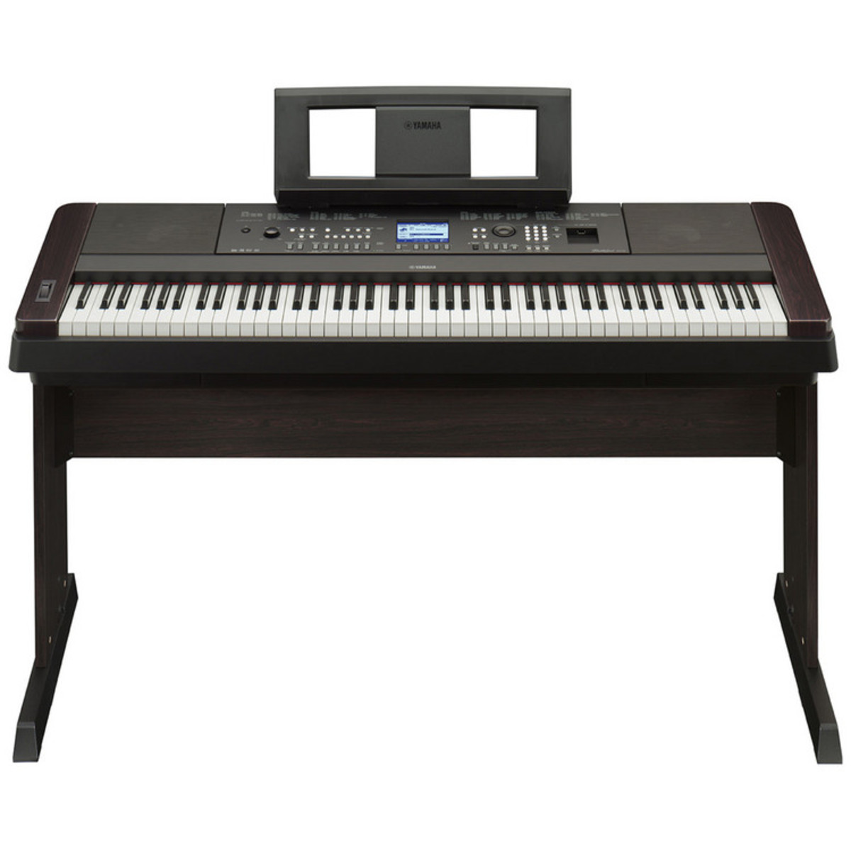 Yamaha portable grand dgx650 digital piano black at for Yamaha piano keyboard models