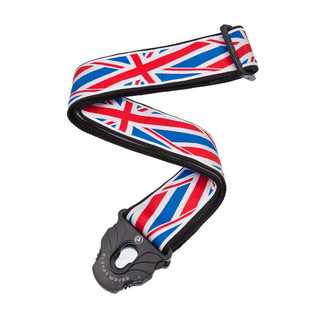 planet waves lock guitar strap union jack