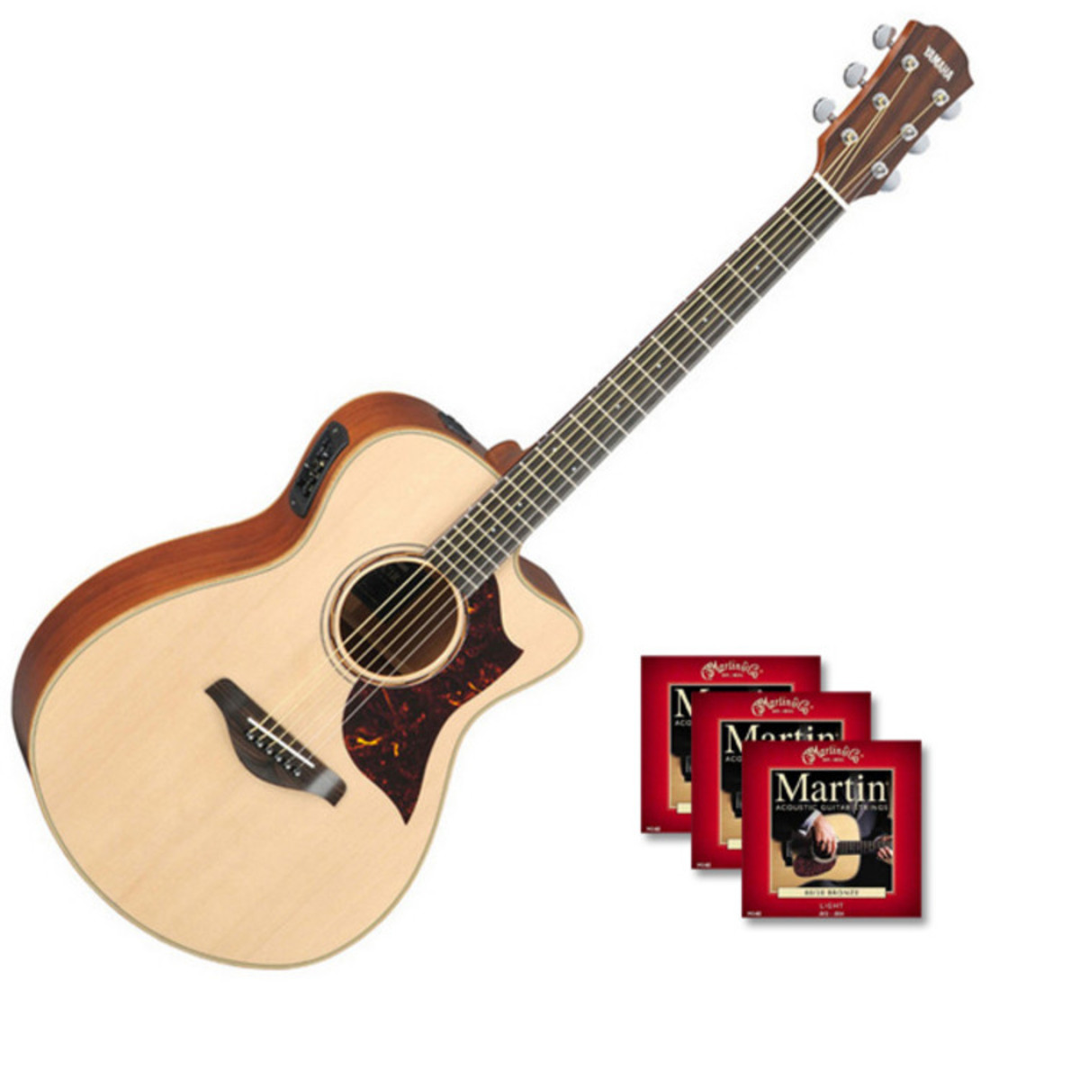 yamaha ac3m guitare electro acoustique naturel avec. Black Bedroom Furniture Sets. Home Design Ideas
