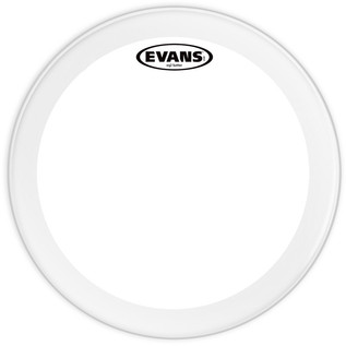 Evans EQ2 Clear Bass Drum Head, 18 Inch