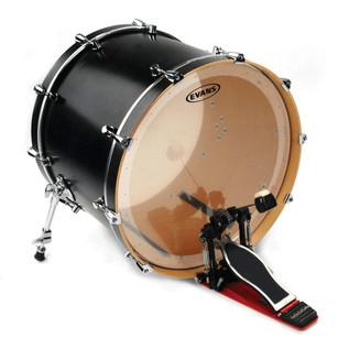 Evans EQ2 Clear Bass Drum Head, 20 Inch
