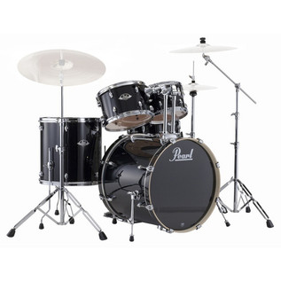 Pearl Export Rock Drum Kit, Jet Black