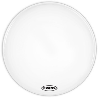 Evans MS1 White Marching Bass Drum Head, 28 Inch