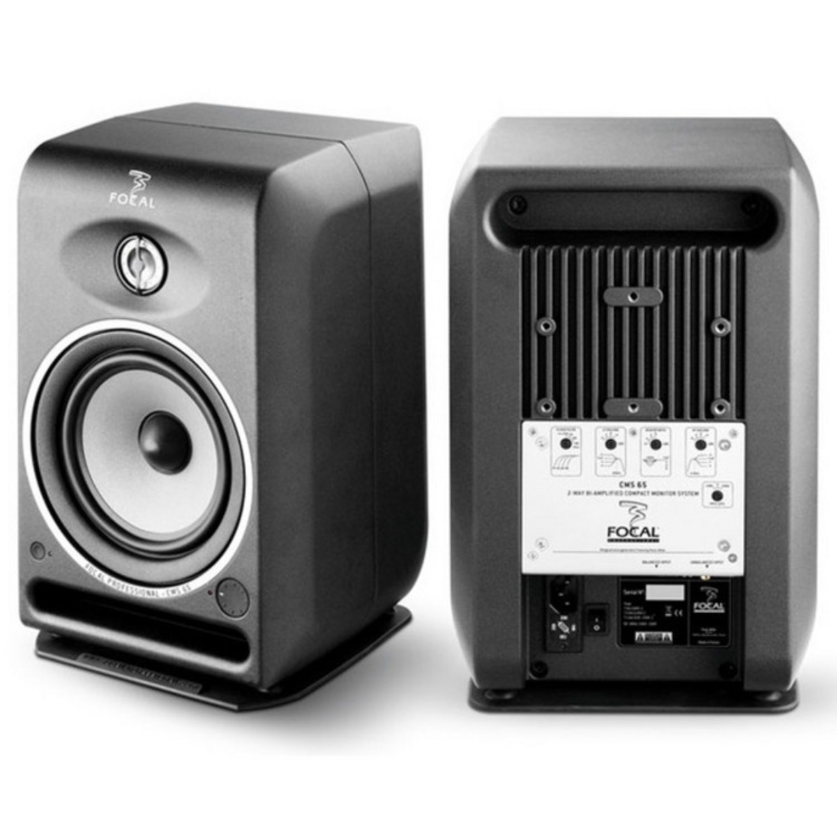 focal cms 65 active studio monitor speakers pair with free stands at. Black Bedroom Furniture Sets. Home Design Ideas