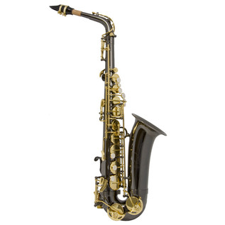 Trevor James Alphasax with BG Harness - Black, Gold Lacquered Keys