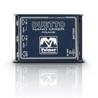 Palmer DUETTO Nano Mixer for Guitars & Line Signals