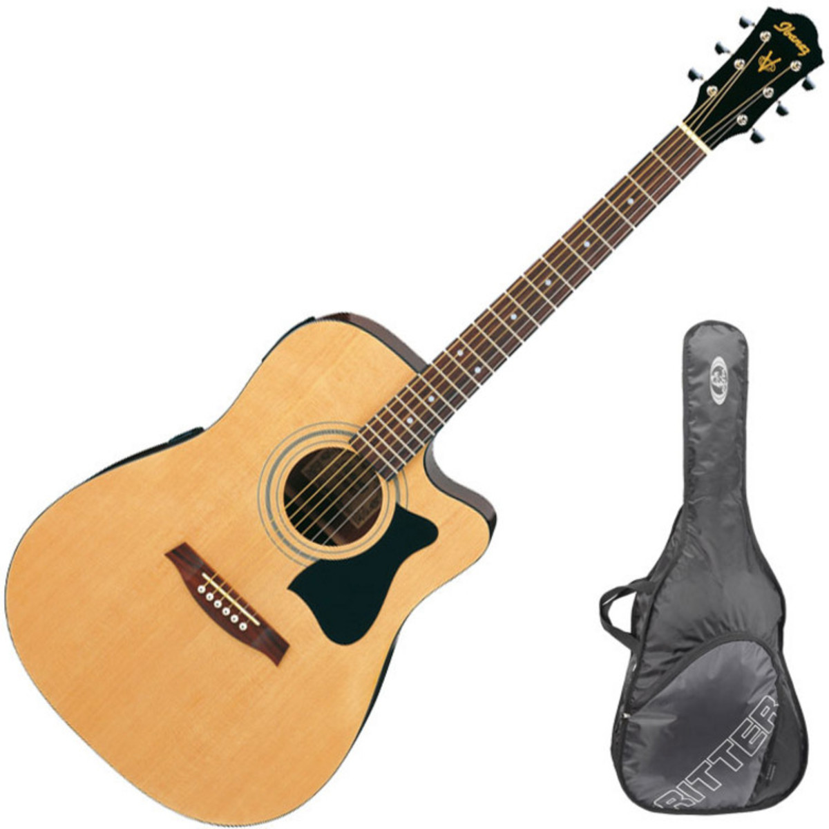 guitare lectro acoustique de disque ibanez v72ece housse. Black Bedroom Furniture Sets. Home Design Ideas