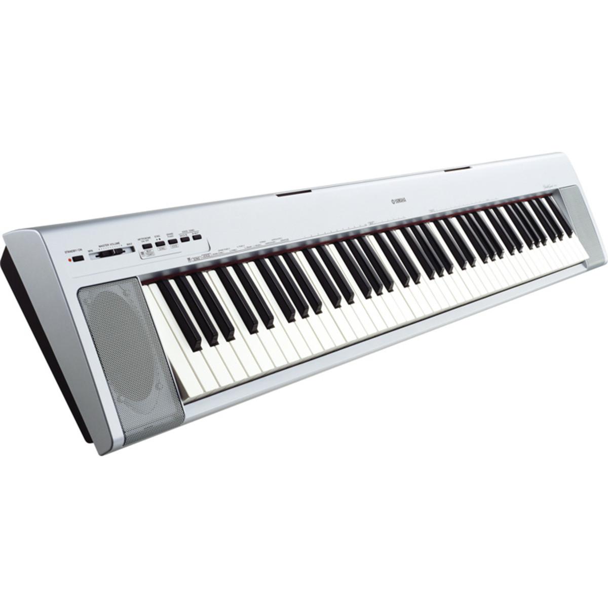 discontinued yamaha np30s portable digital piano silver