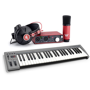 Focusrite Scarlett Studio Pack + Acorn MasterKey 49 USB MIDI Keyboard
