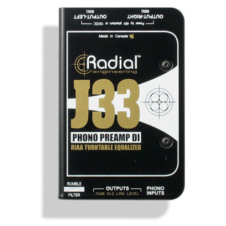 Radial J33 High Resolution Phono Turntable Preamp and DI Box