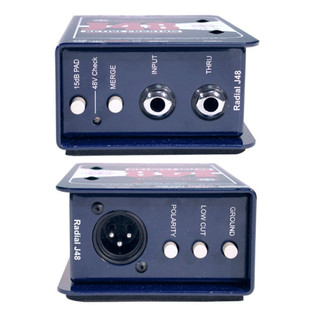 Radial J48 Phantom Powered Active DI Box