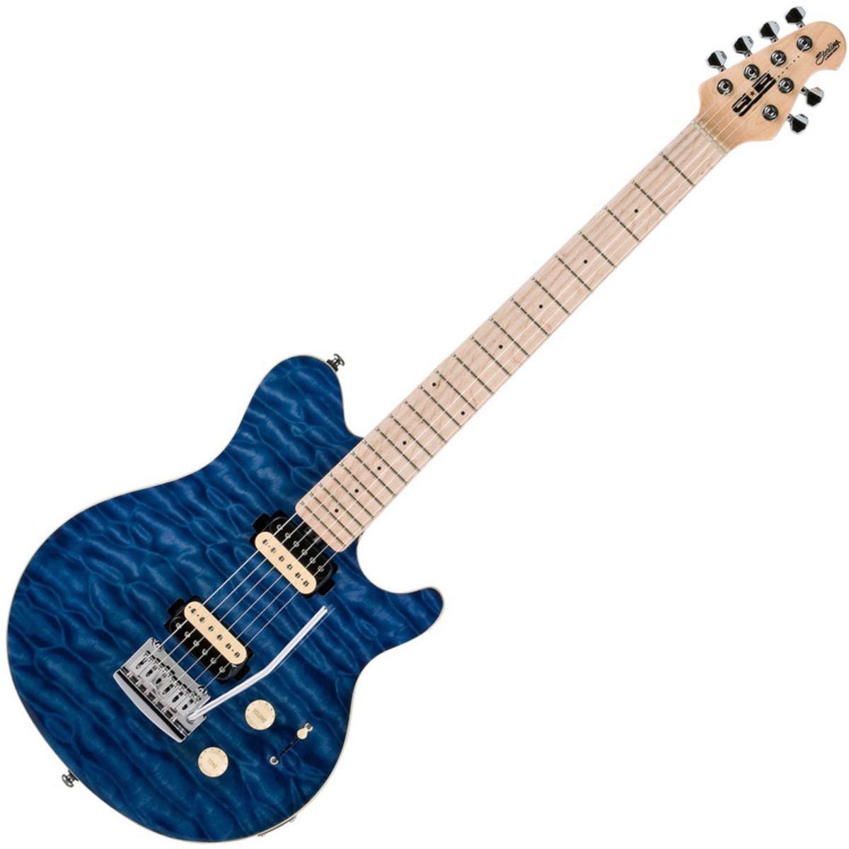 sterling by music man sub ax3 guitar mn transparent blue at. Black Bedroom Furniture Sets. Home Design Ideas