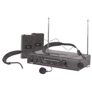 QTX VHF Dual Neckband Wireless Microphone System - 173.8 + 174.8MHz