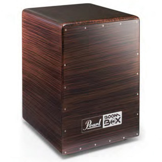 Pearl BOOM BOX Fiberglass Cajon with Ported Chamber, Burgundy Mix