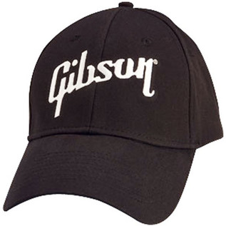 Gibson Logo Flex Cap, Black (One Size)