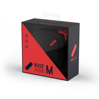 Nude Move Medium Portable Universal Bluetooth Speaker, Black/Coral