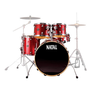 Natal Spirit Fusion Kauri Drum Kit, Limited Edition Scarlet Sparkle