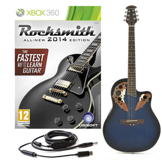 Rocksmith 2014 Xbox 360 + Deluxe Round Back Electro Acoustic, Blue