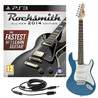 Rocksmith 2014 PS3 + 3/4 LA Electric Guitar, Blue