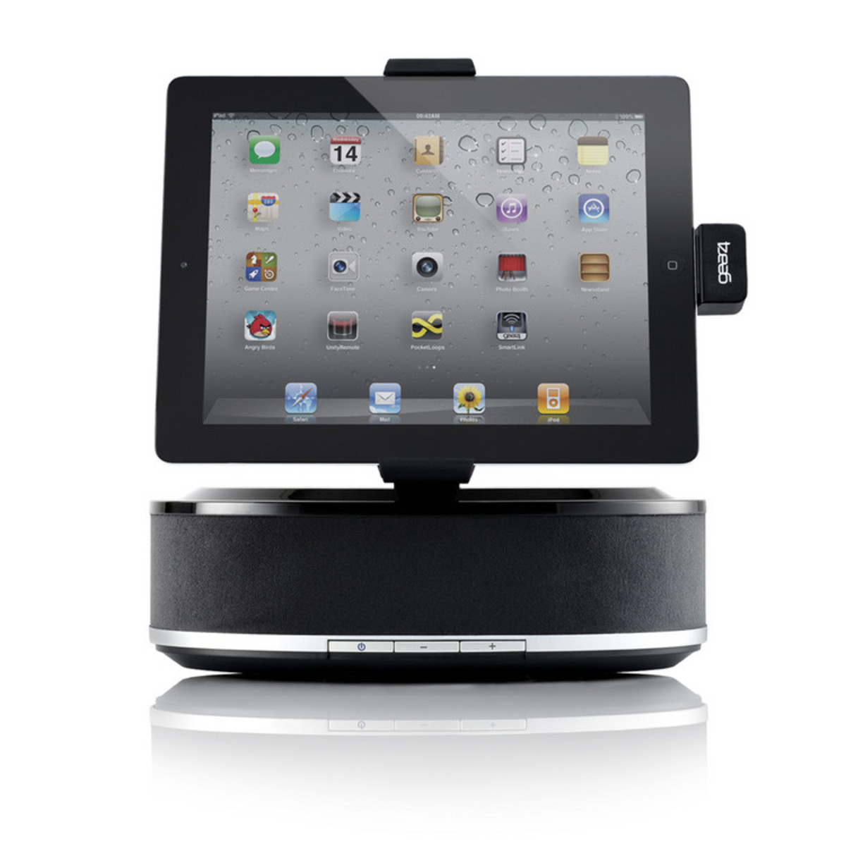 gear4 houseparty view docking station for ipad at. Black Bedroom Furniture Sets. Home Design Ideas