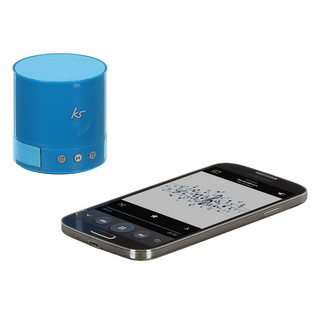 KitSound PocketBoom Portable Bluetooth Speaker With Extra Bass, Blue