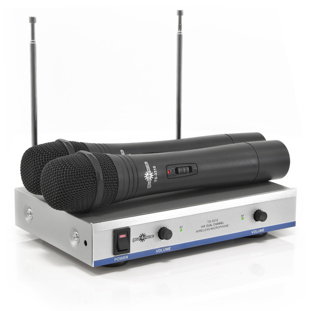 dual wireless microphone system by gear4music nearly new at. Black Bedroom Furniture Sets. Home Design Ideas
