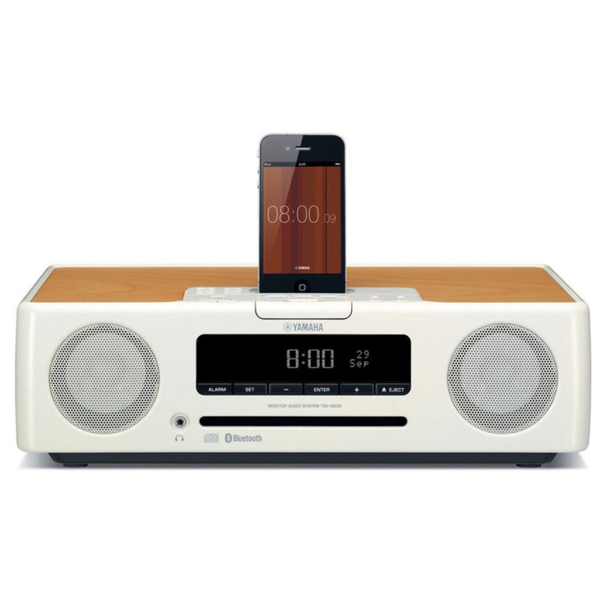 Disc yamaha tsx 132 speaker system with ipod dock white for Yamaha sound dock