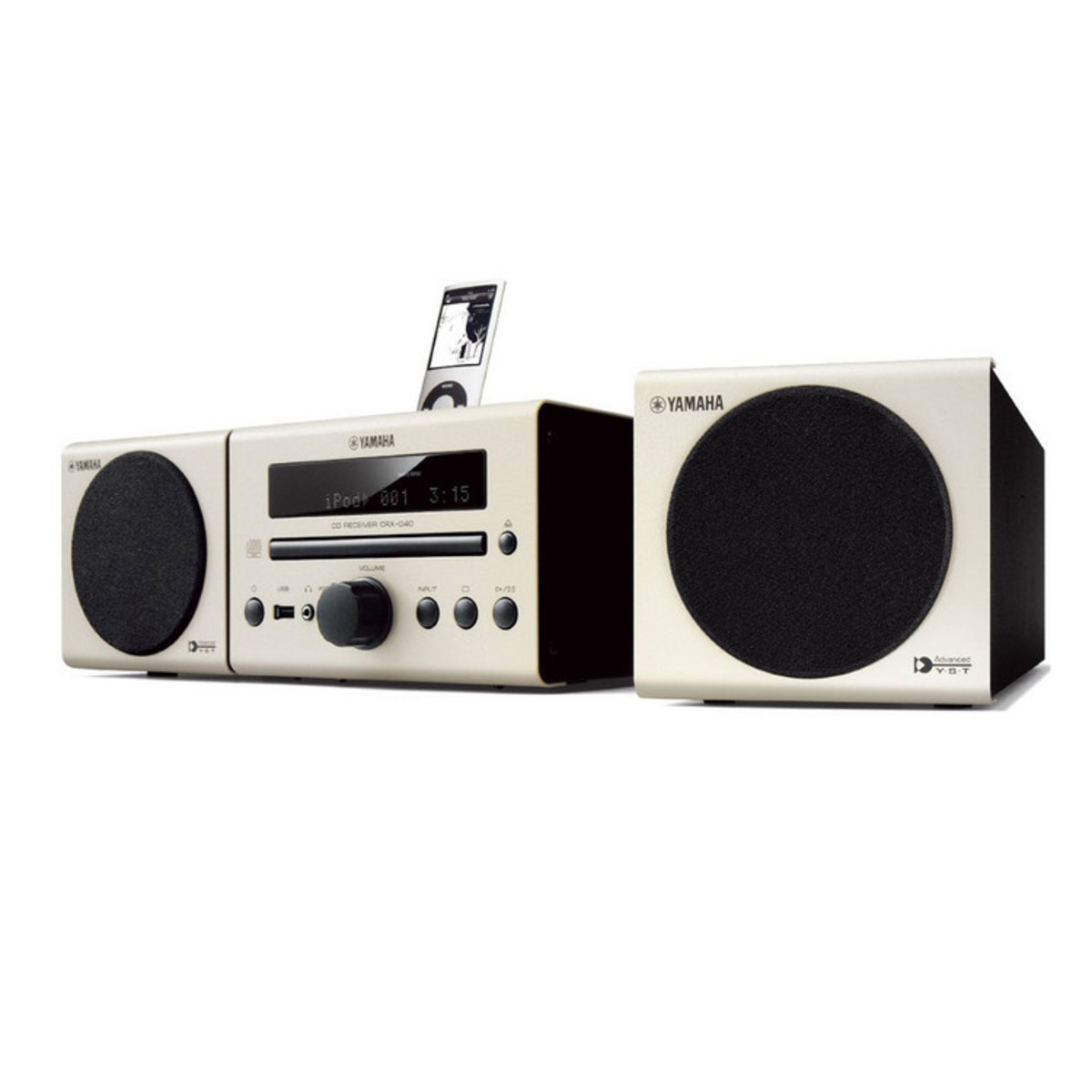disc yamaha mcr b142 speaker system with bluetooth technology white at. Black Bedroom Furniture Sets. Home Design Ideas