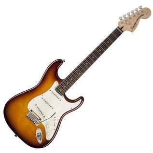 Squier by Fender Standard Stratocaster FMT, Amber Transparent