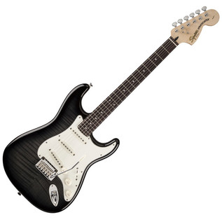 Squier by Fender Standard Stratocaster FMT, Ebony Transparent