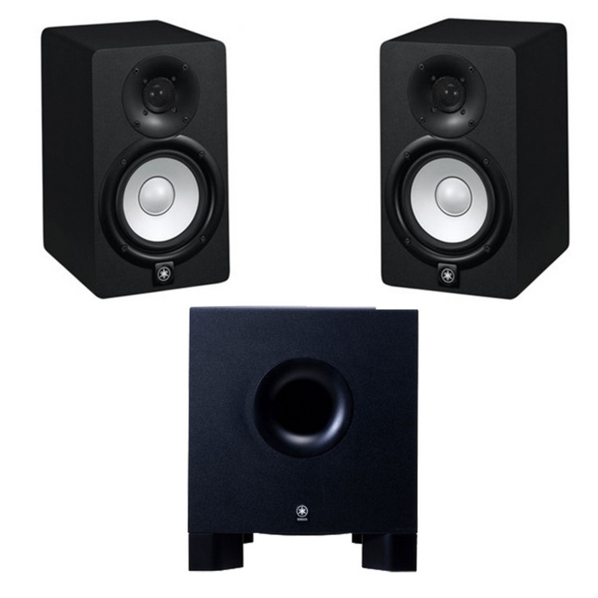 disc yamaha hs5 active studio monitors and hs10w powered subwoofer at. Black Bedroom Furniture Sets. Home Design Ideas