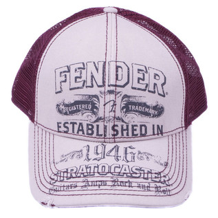 Fender Hat Trucker Strat Beige/Wine O