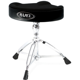 Mapex T765A, Drum Stool, Saddle Cloth Top, Threaded Base