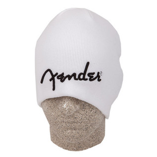 Fender Logo Beanie, White