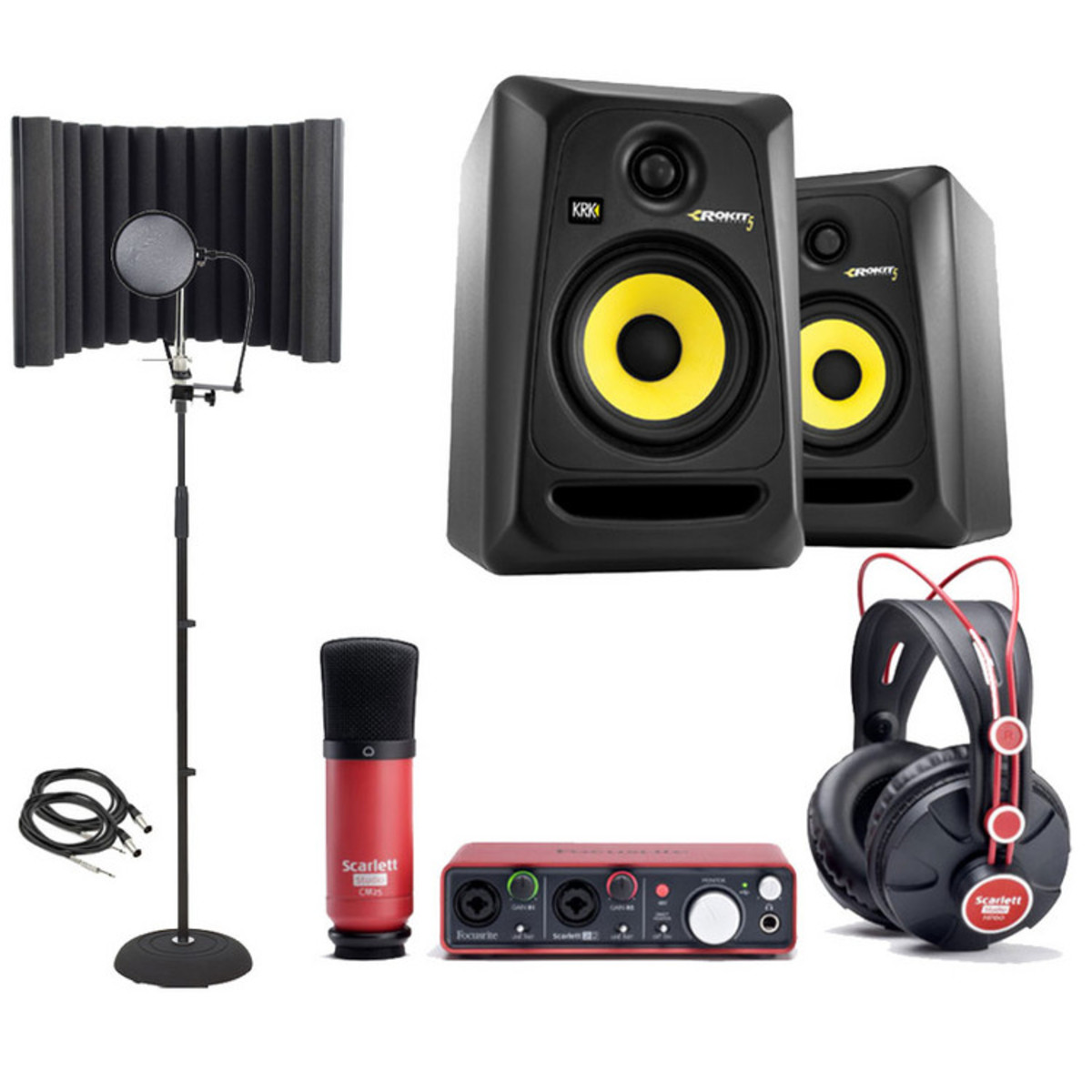 focusrite scarlett recording pack and krk rp5 studio monitor bundle at. Black Bedroom Furniture Sets. Home Design Ideas