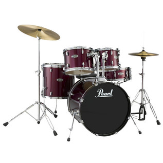 Pearl Target Rock Drum Kit, Wine Red with Chrome Hardware