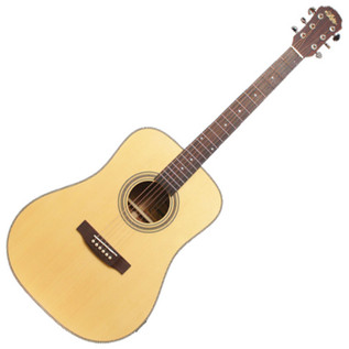 Aria 511 Dreadnought Acoustic Guitar, Solid Spruce/Mahogany, Natural