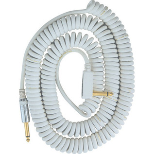 Vox VCC Vintage Coiled Cable, Quality 9m Cable and Mesh Bag, White