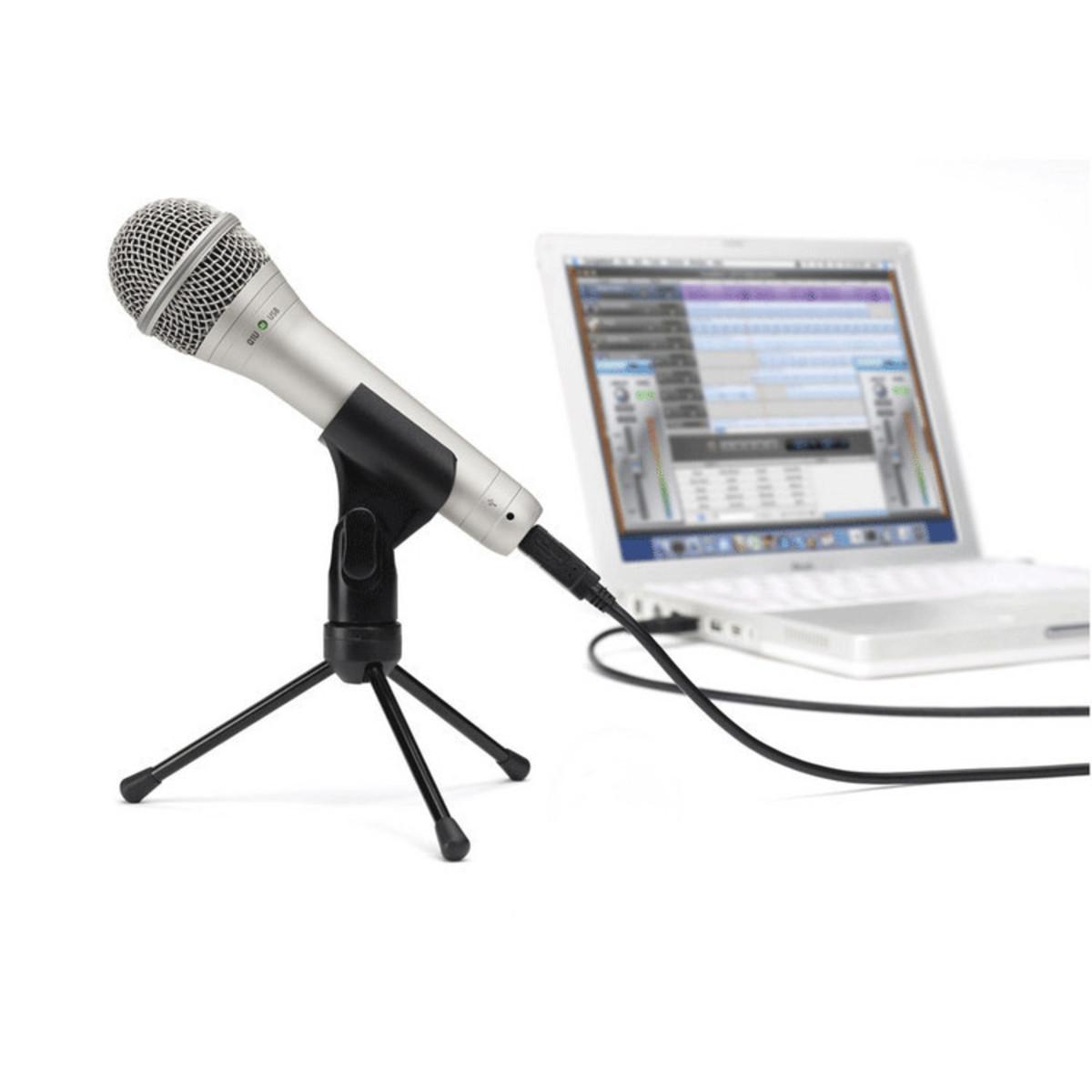 samson q1u usb dynamic mic at. Black Bedroom Furniture Sets. Home Design Ideas