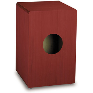 Pearl Box Cajon Matte Wine Red w/Natural Front Plate, 31,5x31,5x50cm