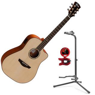 Faith Saturn Dreadnought Cutaway Electro Acoustic Guitar, Natural
