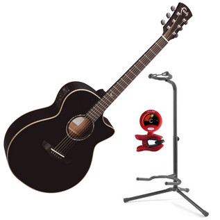 Faith Eclipse Venus Concert Cutaway Electro Acoustic Guitar, Black