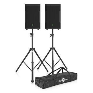 Mackie SRM550 12'' Active PA Speaker Bundle Including Free Stands