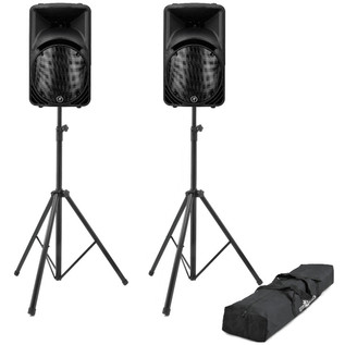 Mackie SRM450 Active PA Speaker Bundle With FREE Speaker Stands
