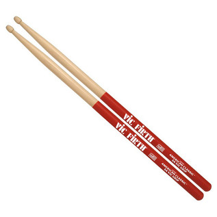 Vic Firth American Classic 2BVG Drum Sticks, Wood Tip with Vic Grip