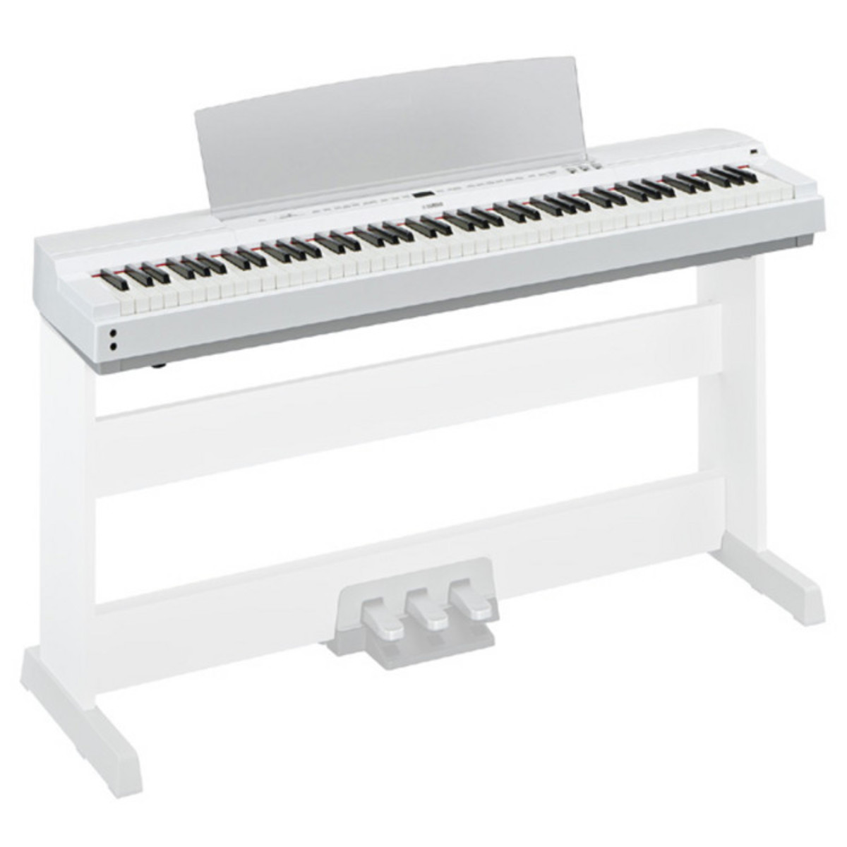 yamaha p series p 255 lightweight digital piano white at. Black Bedroom Furniture Sets. Home Design Ideas